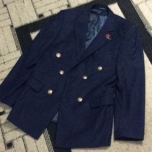 Other - Men Double breasted Navy Blue Suit + Pants